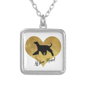 Afghan Hound Silver Plated Necklace