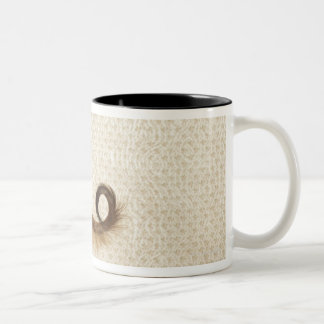 Afghan hound standing in room, end section Two-Tone coffee mug