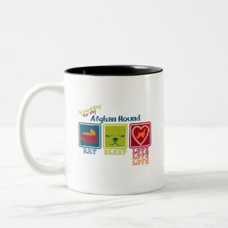 Afghan Hound Two-Tone Coffee Mug