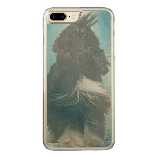 Afghan Hound Wind and Rain Blown Carved iPhone 8 Plus/7 Plus Case