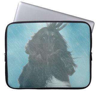 Afghan Hound Wind and Rain Blown Laptop Sleeve