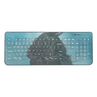 Afghan Hound Wind and Rain Blown Wireless Keyboard