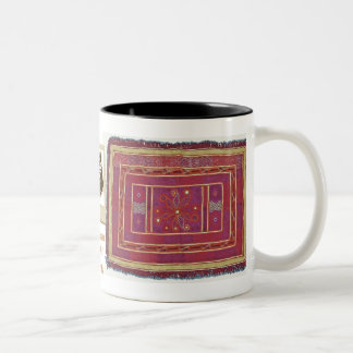 Afghan Wedding Textile Two-Tone Coffee Mug
