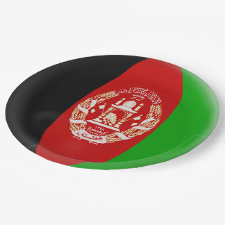 Afghanistan Afghanistani Flag Paper Plate