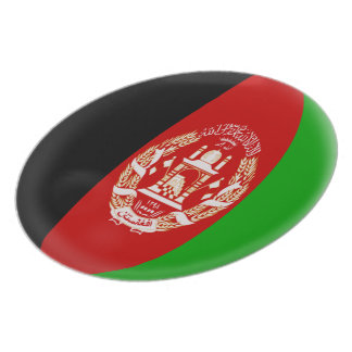Afghanistan Afghanistani Flag Plate