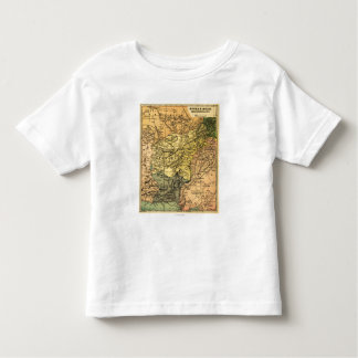 Afghanistan and Surrounding Countries Map Tee Shirts
