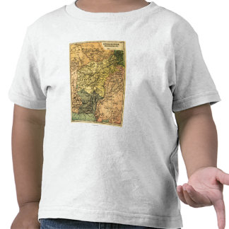 Afghanistan and Surrounding Countries Map T-shirts