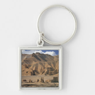 Afghanistan, Bamian Valley. Ancient earthen Silver-Colored Square Key Ring