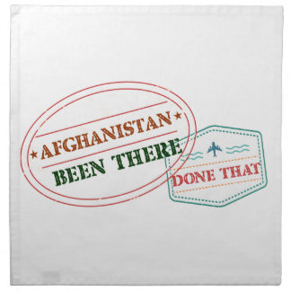 Afghanistan Been There Done That Napkin