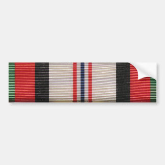 Afghanistan Campaign Medal Ribbon Bumper Sticker