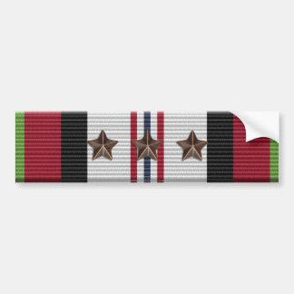 Afghanistan Campaign Ribbon 3 Star Bumper Sticker