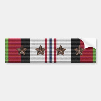 Afghanistan Campaign Ribbon 4 Star Bumper Sticker