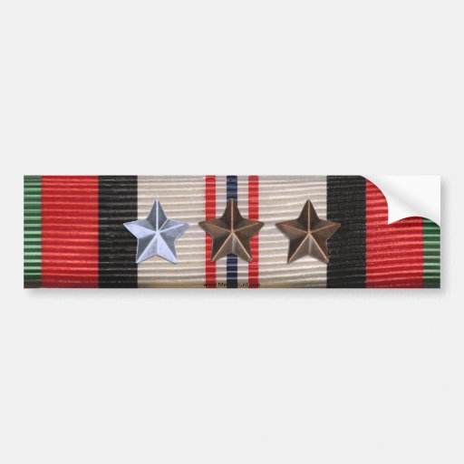 Afghanistan Campaign Ribbon 7 Star Bumper Sticker