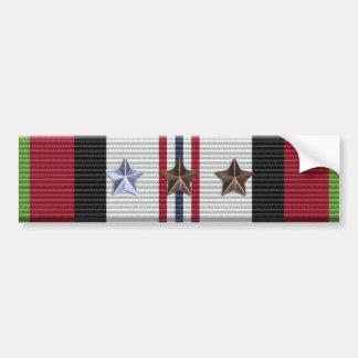 Afghanistan Campaign Ribbon 7 Stars Bumper Sticker