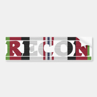 Afghanistan Campaign Ribbon Recon Bumper Sticker