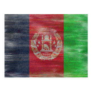 Afghanistan distressed Afghan flag Postcard