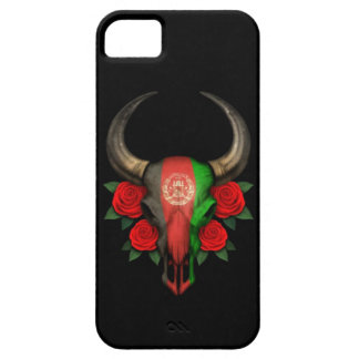 Afghanistan Flag Bull Skull with Red Roses iPhone 5 Cover