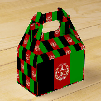 Afghanistan Flag Favour Box