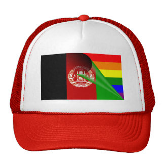 Afghanistan Flag Gay Pride Rainbow Trucker Hat
