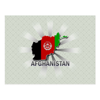 Afghanistan Flag Map 2.0 Postcard