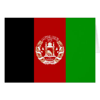 Afghanistan Flag Note Card