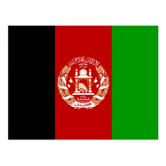 Afghanistan Flag Postcard