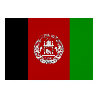 Afghanistan Flag Posters