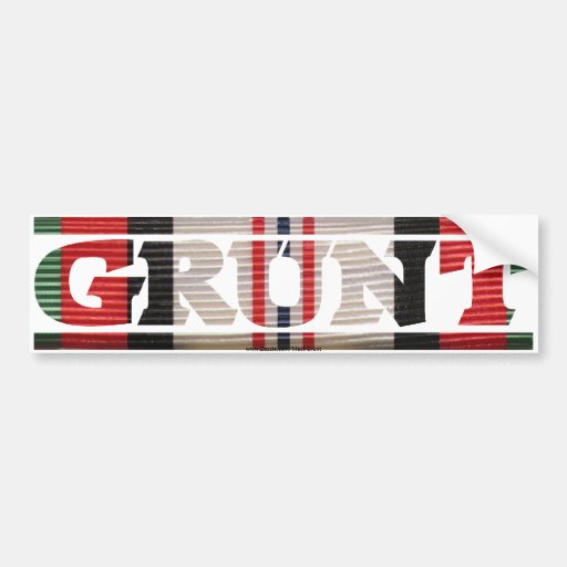 Afghanistan GRUNT CMR Bumper Sticker
