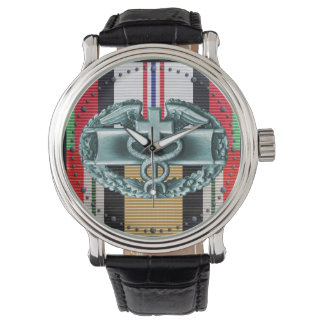 Afghanistan & Iraq Combat Medical Badge Watch