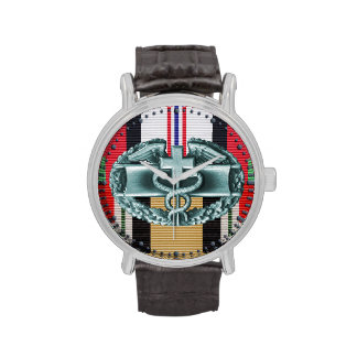 Afghanistan & Iraq Combat Medical Badge Watch