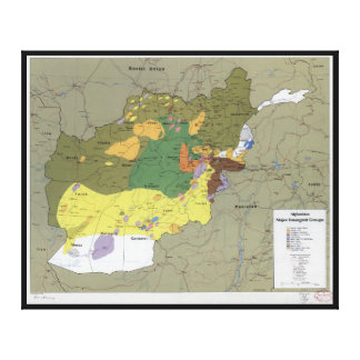 Afghanistan Major Insurgent Groups Map (1985) Gallery Wrap Canvas