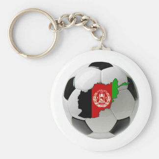 Afghanistan national team basic round button key ring