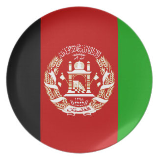Afghanistan National World Flag Plate