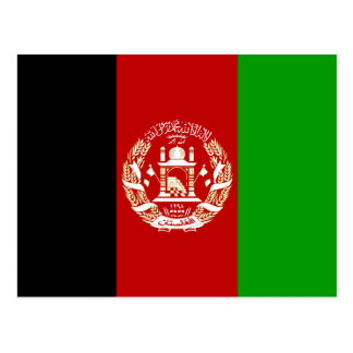 Afghanistan National World Flag Postcard