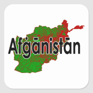 Afghanistan Square Sticker