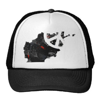 Afghanistan Trendy Peace Sign with Afghan map Cap