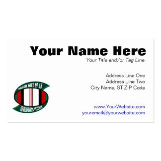 Afghanistan Vet Wife Pack Of Standard Business Cards