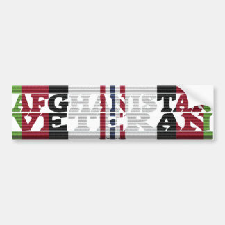 Afghanistan Veteran ACM Ribbon Bumper Sticker
