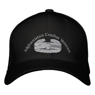 Afghanistan Veteran Combat Action Badge Hat Embroidered Hat