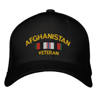Afghanistan Veteran Embroidered Baseball Cap