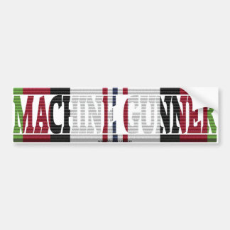 Afghanistan Veteran Machine Gunner Bumper Sticker