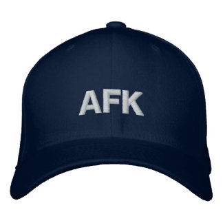 AFK Away From Keyboard Hat Embroidered Baseball Caps