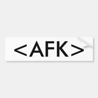 <AFK> BUMPER STICKER