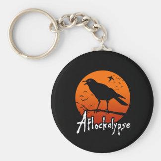 Aflockalypse Now Basic Round Button Key Ring