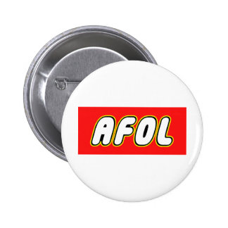 AFOL, Red Background Pinback Buttons