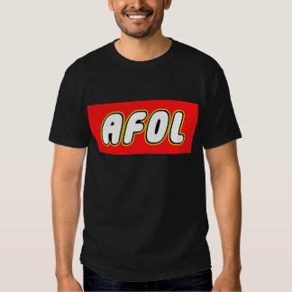 AFOL, Red Background Shirt