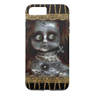 Afraid Doll Scary Goth Monogram Fright iPhone 8 Plus/7 Plus Case