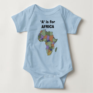 "AFRICA2, ""A"" is for AFRICA Baby Bodysuit"