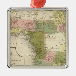 Africa 25 Silver-Colored square decoration