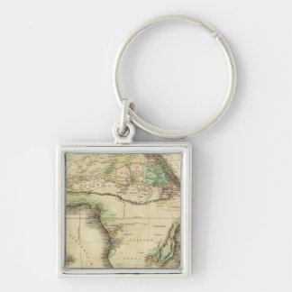 Africa 25 Silver-Colored square key ring